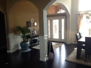 wolf view foyer wainscot